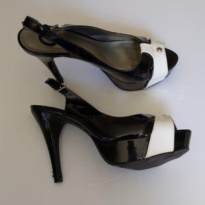 7eaf1170451 G by Guess Shoes | Slingback Heels Peep Toe Womens 10m | Poshmark